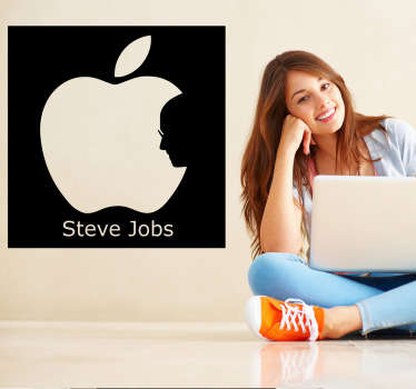 Steve Jobs Apple Wall Sticker