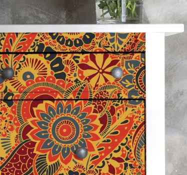 驚くほどカラフルな装飾用の花の家具のデカール。デザインはあなたの家具の表面にとても素敵に見え、それを変えるでしょう。