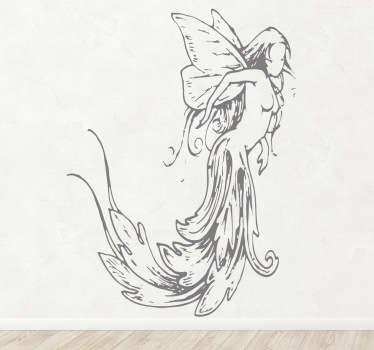 Vinil decorativo ilustração fada clássica
