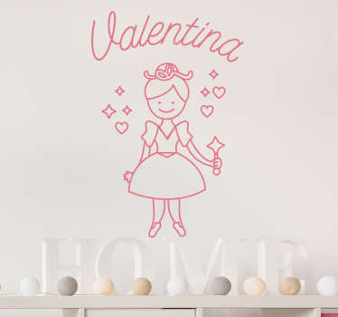 Personalised Magical Fairy Wall Sticker