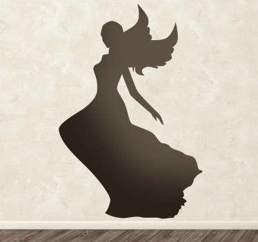 Sticker decorativo silhouette angelo