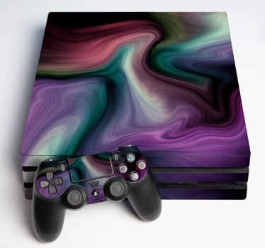 Very nice decorative PlayStation 4 decal  nebula colors.  