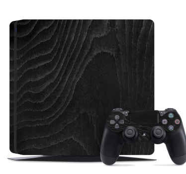 Playstation 4 sticker black wood to decorate your console. The application is easy, and you can remove the vinyl at any time without problem.