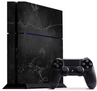 Marble black Vinyl for Playstation 4 - Charming design to personalize your ps4 device.