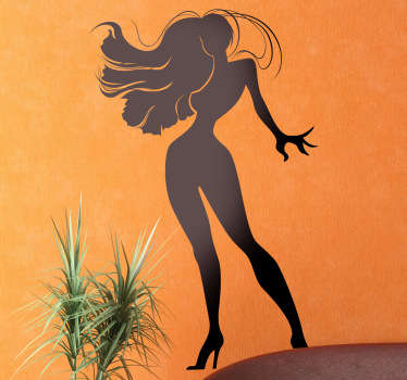 Sticker mural silhouette femme sexy