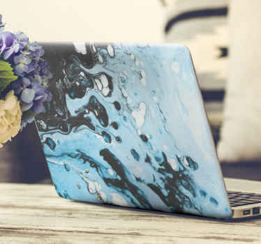 Blue splash laptop vinyl skin decal from our splash painting colored decorative decals. It is lovely, easy to apply, original nd removable.