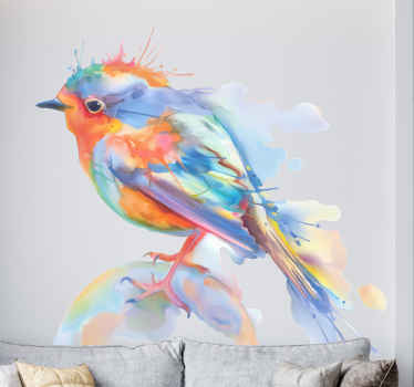 Brightful and elegant bird decal ideal for those who love birds and abstract ideas ! Perfect for decorating everywhere! Home delivery!