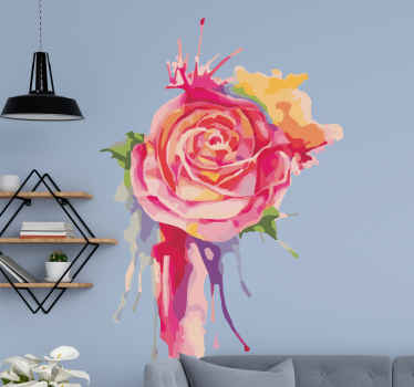 Awesome living room decal perfect for those who love nature and roses! Home delivery! Buy now online! Available in 50 colours.
