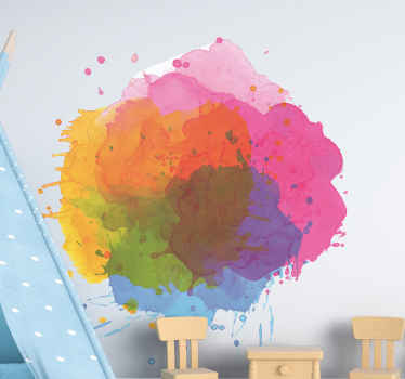 ¡Decora tu casa con este increíble vinilo de arte con salpicaduras de pintura abstracta! Elige las medidas que desees ¡Envío exprés!