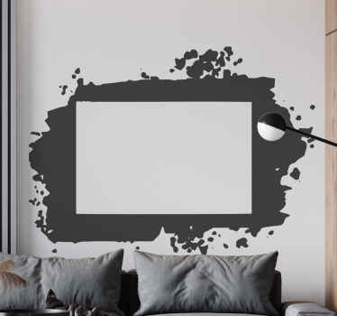Our decorative Splash frames picture frame sticker would be amazing for your home and other places. The colour is customizable and its easy to apply.