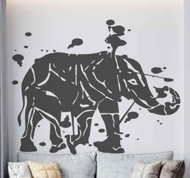 Decorative elephant wild animal decal - It is a customizable splash paint abstract elephant art design for your home and other space decoration.