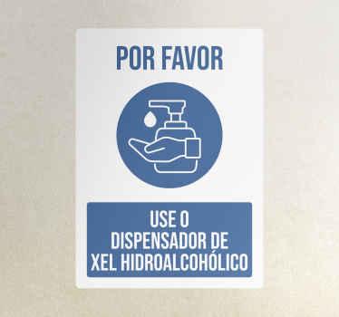 Use la pegatina señal del dispensador de gel: el diseño ilustra el lavado a mano con desinfectante e inscrito con texto. Fácil de aplicar y extraíble.