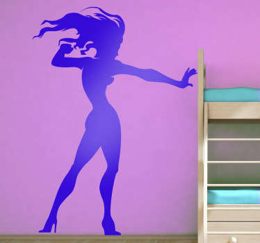 Kids Comic Girl Character Wall Decal