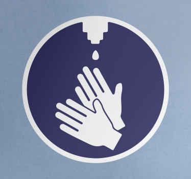 Pegatina señal de dispensador automático para que señalices la obligación y en qué lugar los usuarios pueden desinfectarse las manos.