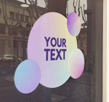 Get better known by people who pass your store with this amazing 'gradient fluid circles' personalized window sticker! Order now!