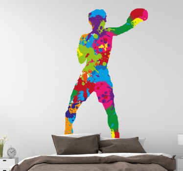 Bring some color in your house with this amazing 'boxer splash colors' design! Order your new and fantastic wall sticker today!