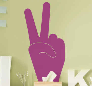 This silhouette vinyl wall decal representing peace will bring a message of benevolence throughout your home!This stickers will be your lucky charm !