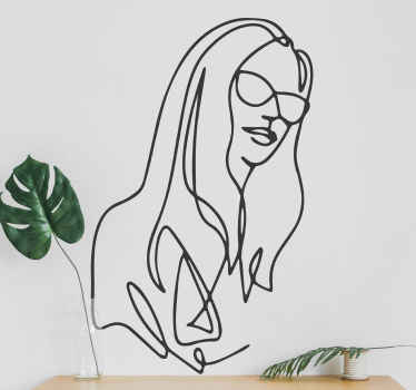 Minimalist woman drawing people sticker from our silhouette collection decals.  Perfect for any room in a house, for aesthetic shops, etc.