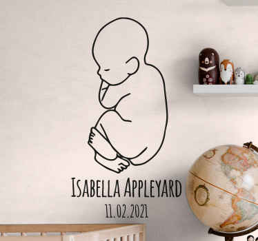Bring some cuteness in your house with this amazingly cute silhouette wall decor displaying a baby. Order this amazing design today!