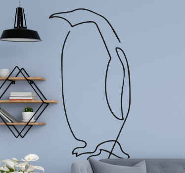 Very awesome and modern minimalist penguin!