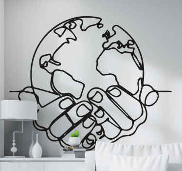 "Amazing silhouette wall decal ""minimalist earth"" perfect for that people who love the earth and love green ideas! Extremely long-lasting material."