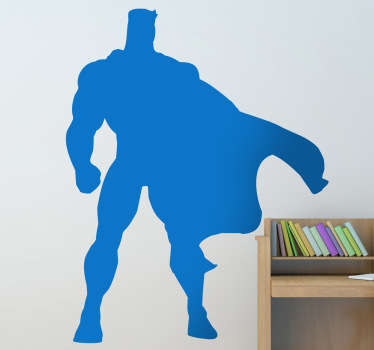 Decals - Silhouette illustration of a strong super hero. Available in 50 colours and also in various sizes.
