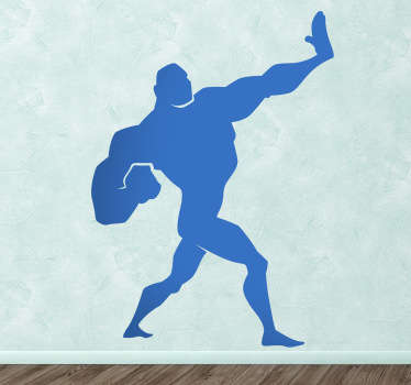 Kids Comic Defense Move Wall Decal