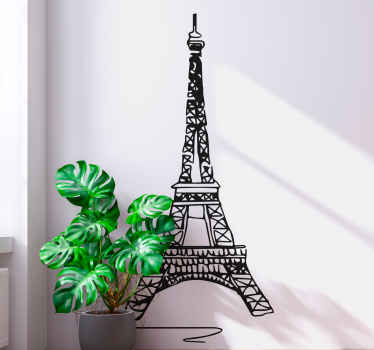 Minimalist Eiffel Tower Paris sticker - Simple but lovely design  depicting one of the very important land marks in Paris.