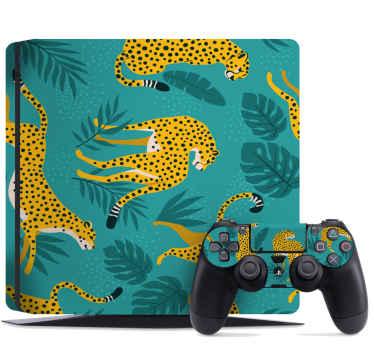 Prachtig tropisch luipaard-embleem voor ps4 - het ontwerp zal perfect en soepel een ps4-apparaat en console inpakken met een zeer mooie uitstraling.