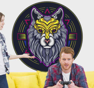 Do you love gaming and wolves? This amazing 'gaming neon wolf' will look amazing in your gaming room! Don't wait any longer and order today!
