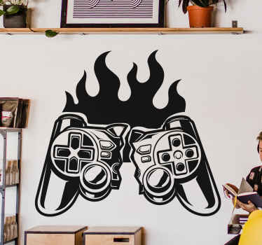All of your friends and family will be so jealous of your brand new piece of decor with this amazing gaming wallsticker product! Order it now!