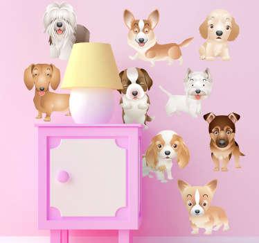 Sticker cachorros de perro cuatro