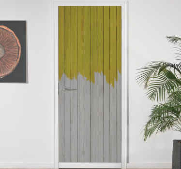 Customize the look on your door space with this lovely Illuminating and gray pantone door sticker. It is original and easy to apply.