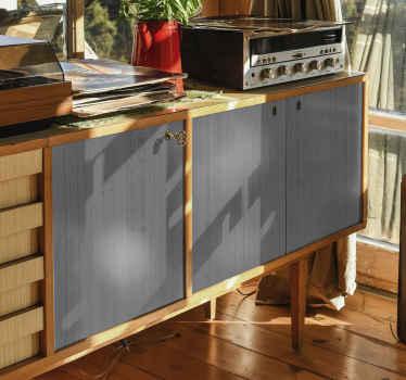 家の家具スペースの表面を包むための木製の灰色のパントン家具デカール。デザインは本物の灰色の木の質感の外観を持っています。