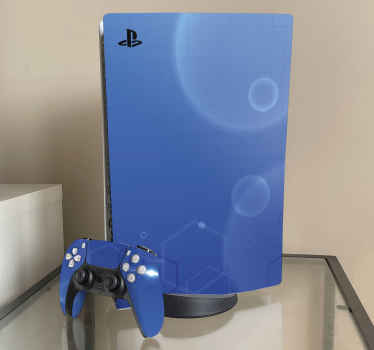 An amazing soothing blue thematic background sticker for PlayStation.  Printed with the best of vinyl with resistance to creasing and fading.