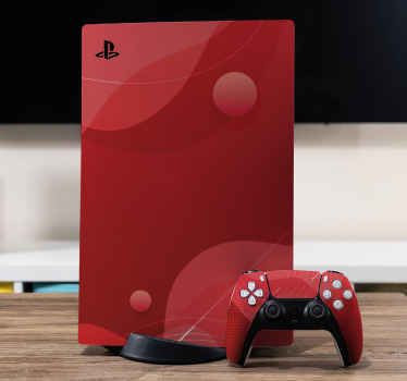 With our amazing decorative abstract red thematic PlayStation decal your device would be standing out in beauty. It is self adhesive and durable.