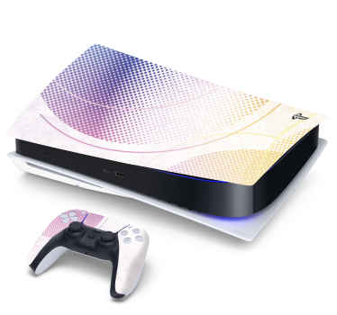 Decorate your game console and controller with this amazing decorative ps5 decal. It design is a textural thematic background with dots.
