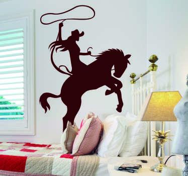 Koristeellinen Rodeo Tarra