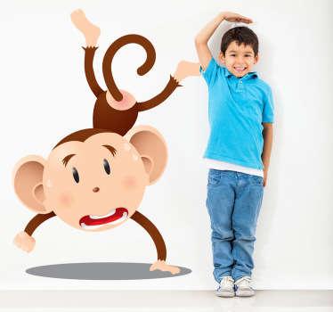 Adesivo bambini scimpanzè acrobatico