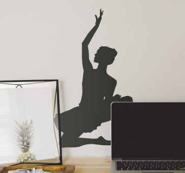 Ballet girl silhouette dance wall sticker for lovers of ballet. The dance character silhouette is depicted with a special dance pose position.