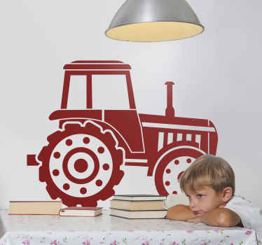 子供の寝室の装飾のための単色のトラクターのおもちゃのステッカー。サイズと色はニーズに合わせてカスタマイズできます。