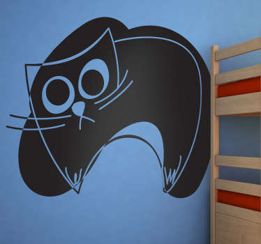 Naklejka dziecięca szkic czarnego kota
