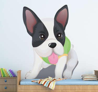 Vinilo infantil perro gracioso