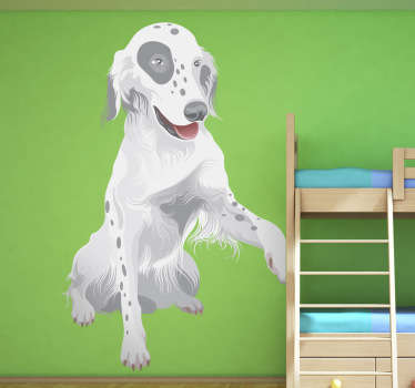 Kids Wall Sticker - Animals - Adorable and lovable illustration of a raising its´paw for a hand shake.