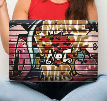 Graffiti urban wall laptop skin for lovers of urban street art! You can imagine the attention your laptop would have with this design decorated on it.