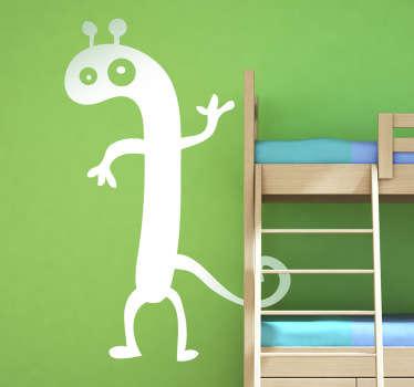 Monster with Antenna Kids Sticker