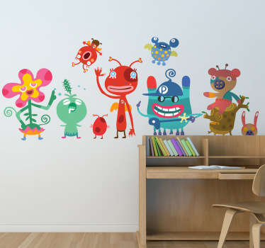Sticker Set Kinderzimmer Monster
