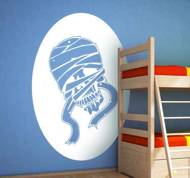 Sticker decorativo teschio mummia