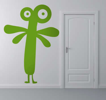 Wandsticker Kinderzimmer abstraktes Monster