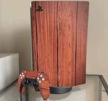 Playstation 5 skin with a pattern of a cherry wood  from our simple textured background PlayStation vinyl.  Home delivery! Buy now online!